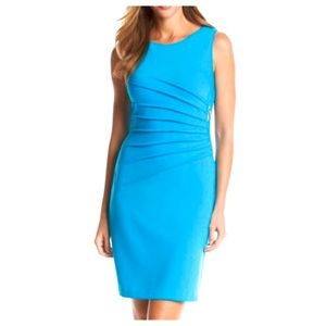 Ivanka Trump Sleeveless Sunburst Sheath Dress
